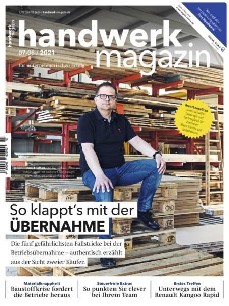 handwerk magazin - Ausgabe 7-8/2021