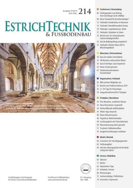 Cover EstrichTechnik & Fußbodenbau 6/2019