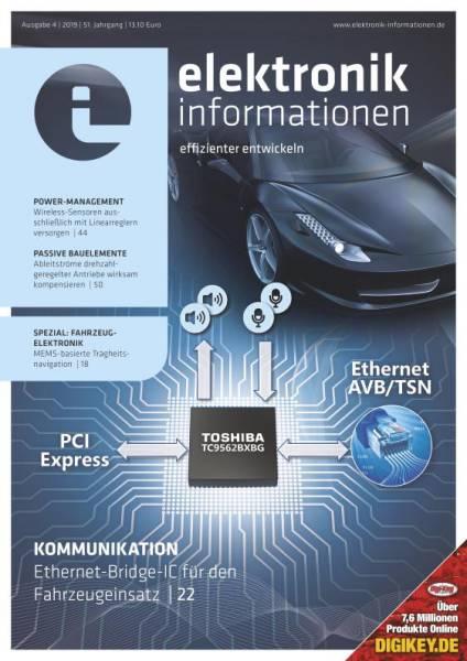 Cover elektronik informationen 4/2019