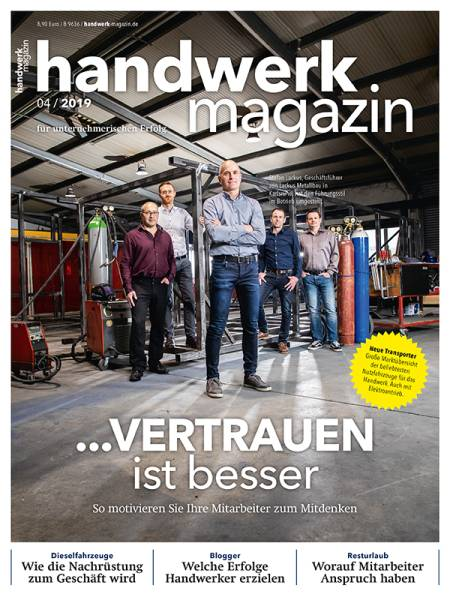 Cover handwerk magazin 4/2019
