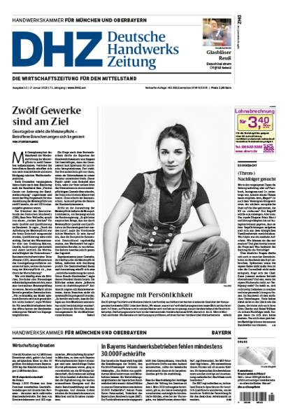 Cover Deutsche Handwerks Zeitung 1-2/2020