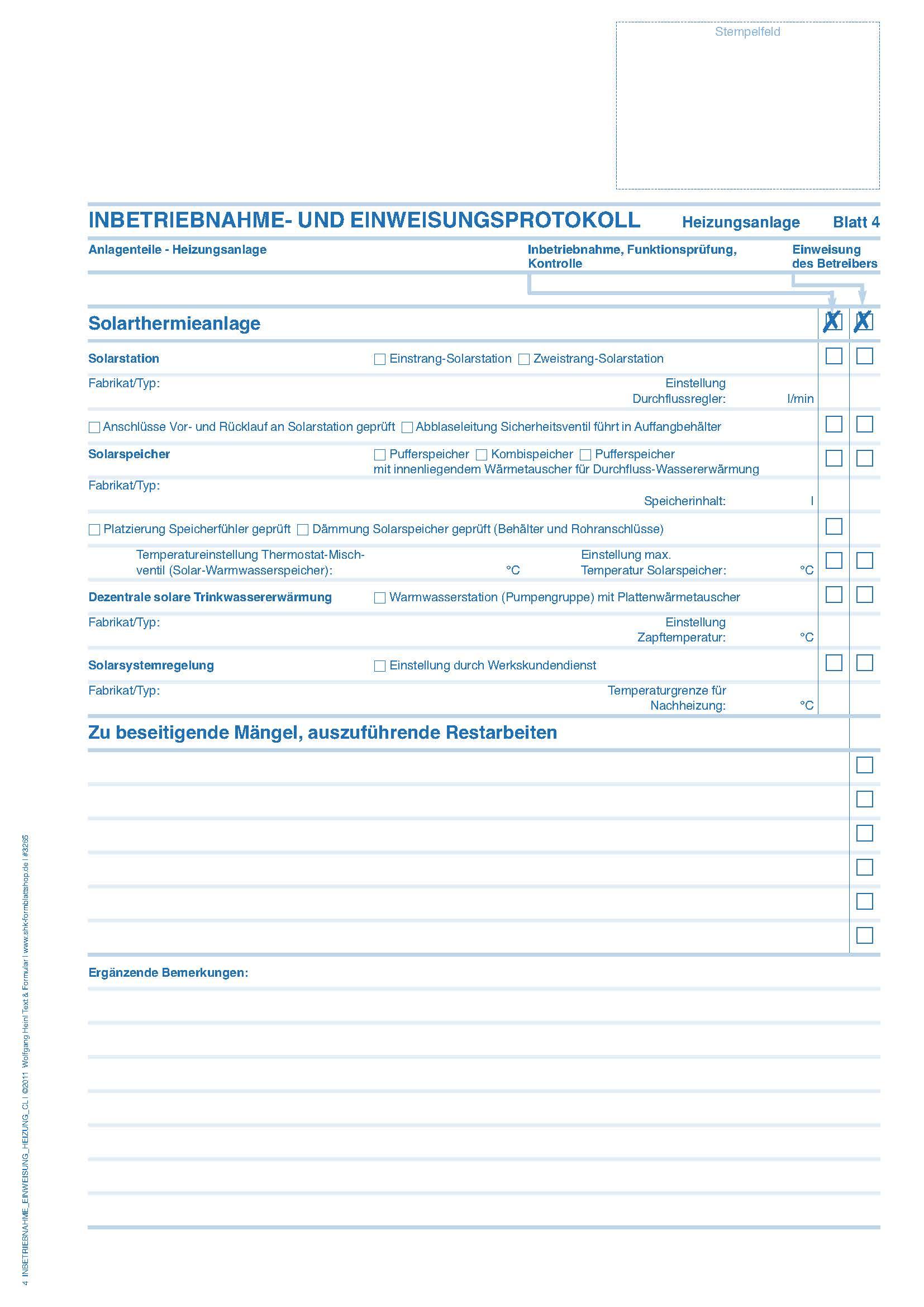 Inbetriebnahme Und Einweisungs Protokoll 1