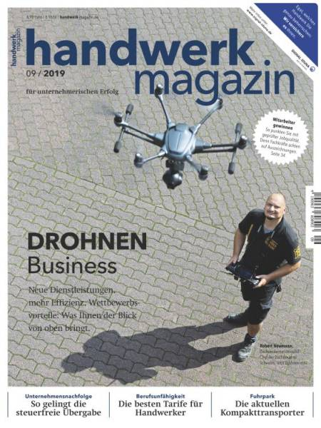 Cover handwerk magazin 9/2019