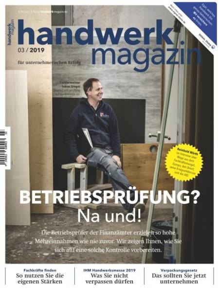 Cover handwerk magazin 3/2019
