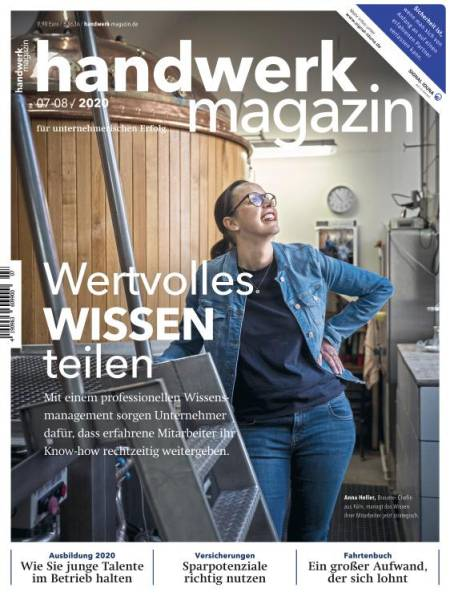 Cover handwerk magazin 07-08/2020 Doppelausgabe