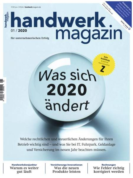 Cover handwerk magazin 1/2020