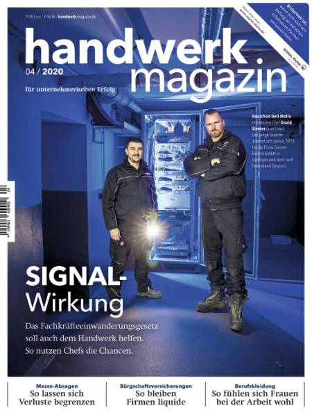 Cover handwerk magazin 4/2020