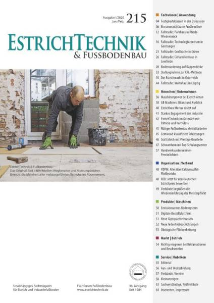 Cover EstrichTechnik & Fußbodenbau 1/2020