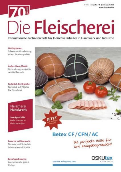 Cover Die Fleischerei 07-08/2020 Doppelausgabe