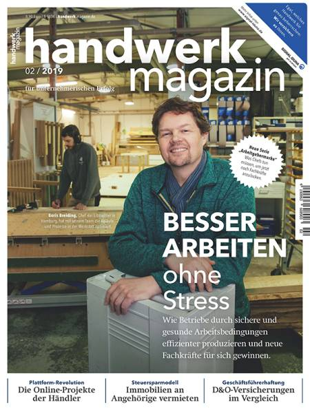 Cover handwerk magazin 2/2019