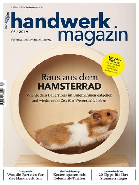 Cover handwerk magazin 5/2019