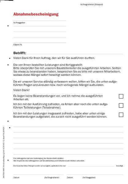 """Formular-Set """"Bau/Ausbau"""""""