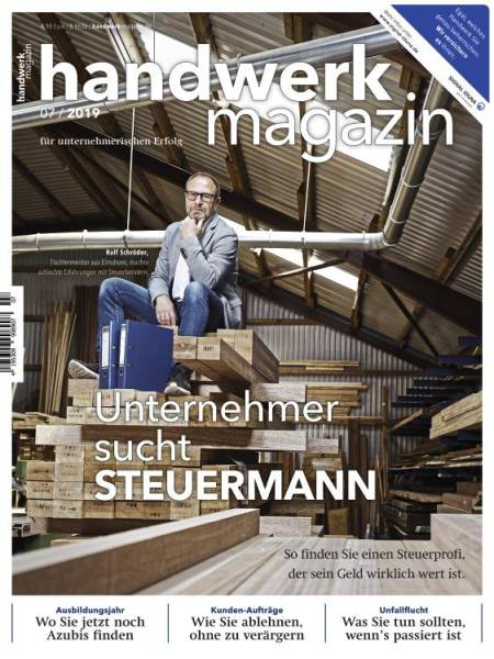 Cover handwerk magazin 7/2019 digital