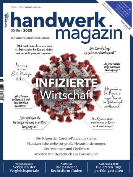 Cover handwerk magazin 5-6/2020 Digitalausgabe