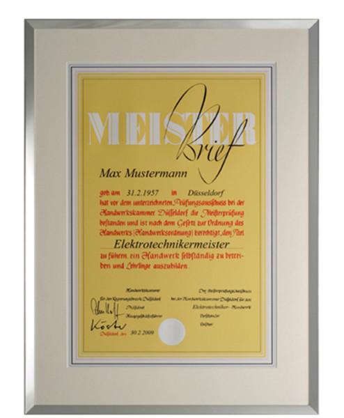 Meisterbrief-Rahmen