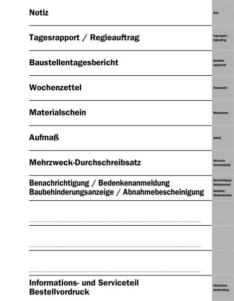 Komplett-Register (18-teilig) - Kalender- und Hauptregister