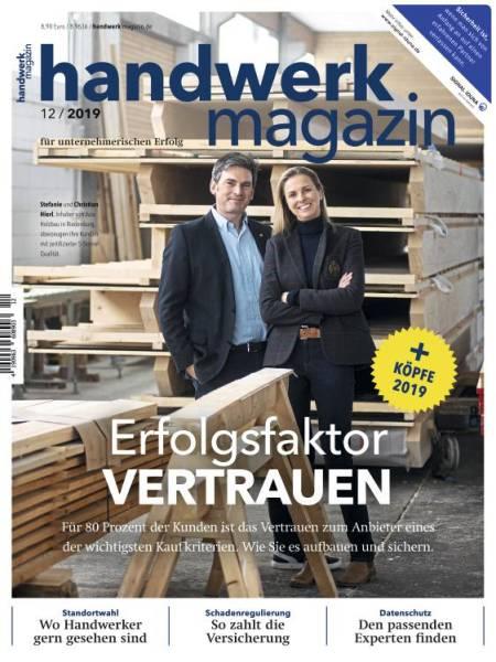 Cover handwerk magazin 12/2019