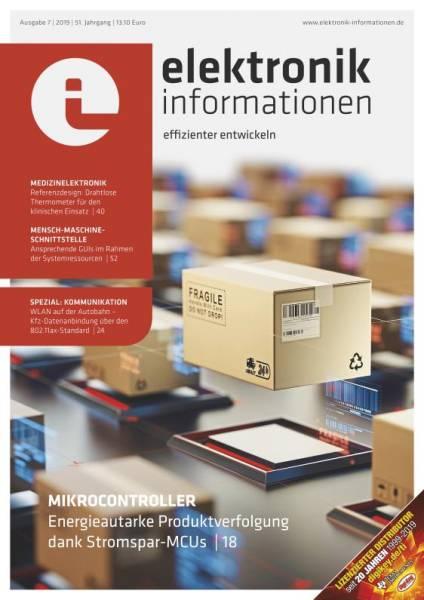Cover elektronik informationen 7/2019 digital