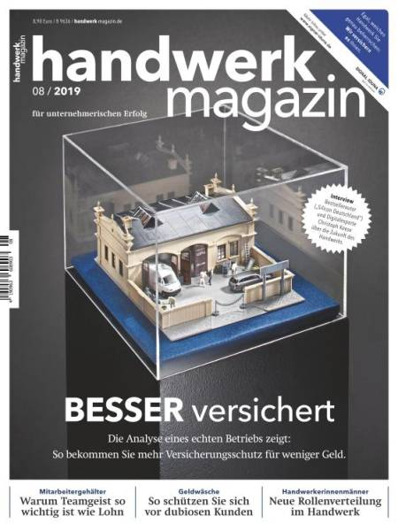 Cover handwerk magazin 8/2019 digital