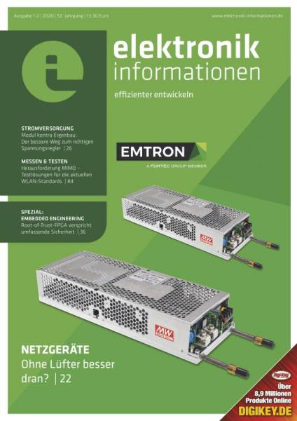 Cover elektronik informationen 1-2/2020