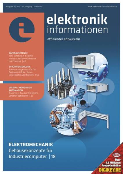 Cover elektronik informationen 3/2019