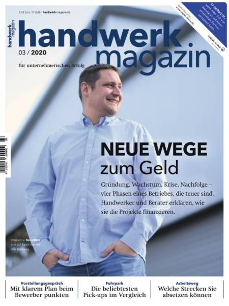Cover handwerk magazin 3/2020 digital